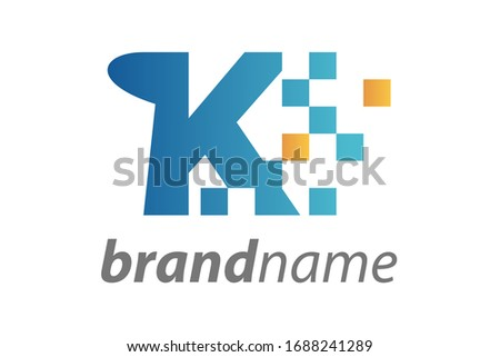 letter K logo. paper flip design concept. creative apps template logo vector illustration Stock photo © taufik_al_amin