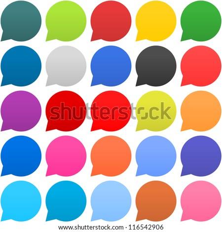 message talk round vector web element circular button icon desig stock photo © rizwanali3d