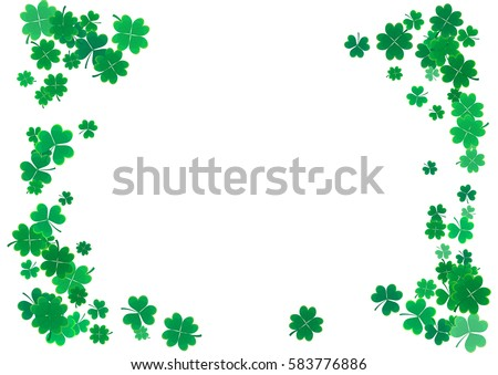 Saint Patricks Day Background Design with falling clovers leaf background. Irish Holiday Vector Illu Stock photo © articular