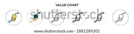 Danych analiza dwa linie wykres schemat Zdjęcia stock © kyryloff
