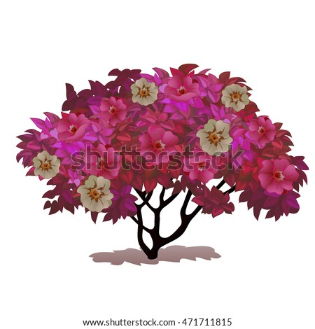 Fancy a Bush covered with flowers. Fantasy nature. Vector illustration. Stock photo © Lady-Luck