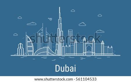 stad · Dubai · skyline · stadsgezicht · Verenigde · Arabische · Emiraten · stedelijke - stockfoto © andrei_