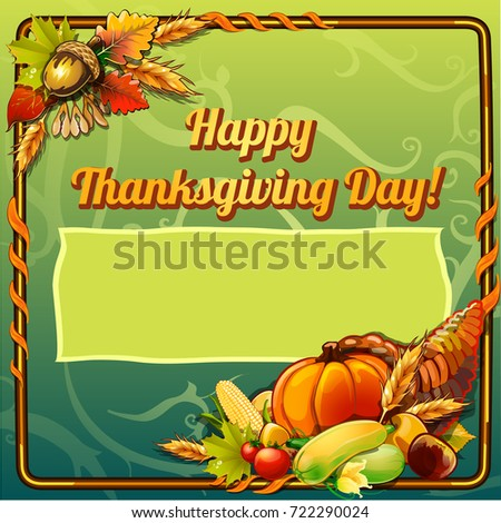 Sketch for card or private party invitation in style of holiday of thanksgiving day with space for y Stock photo © Lady-Luck
