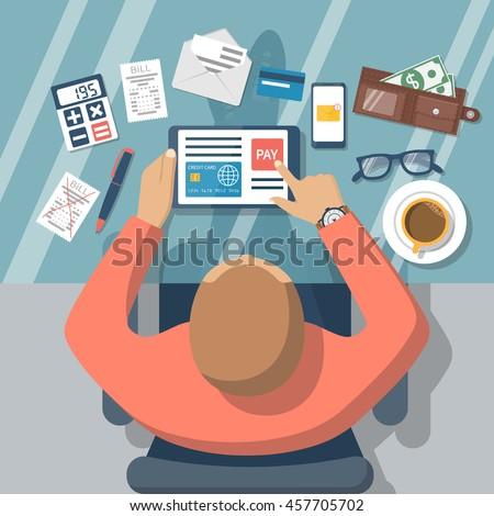 Móviles pago línea teléfono móvil Foto stock © makyzz