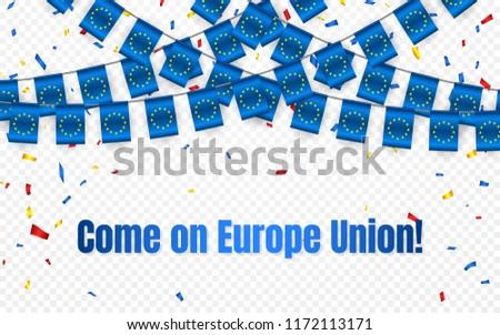 Europa unione ghirlanda bandiera confetti trasparente Foto d'archivio © olehsvetiukha