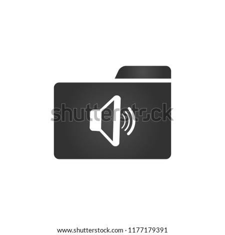 Folder Icon with speaker in trendy flat style isolated on white background, for your web site design Stock photo © kyryloff