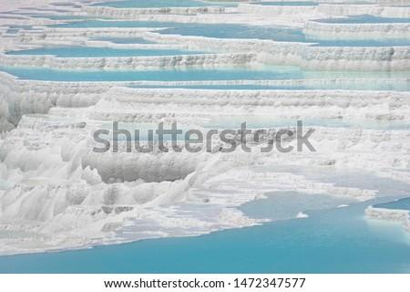 ストックフォト: 自然 · 綿 · 城 · トルコ · リゾート · 白