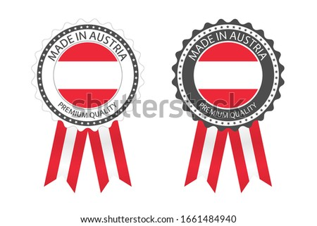 Modern vector Made in the European Union label isolated on white background, simple sticker with Eur Stock photo © kurkalukas