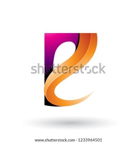 Magenta laranja vetor isolado Foto stock © cidepix