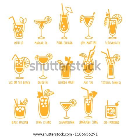 vidrio · martini · de · oliva · limón · blanco · vino - foto stock © pikepicture
