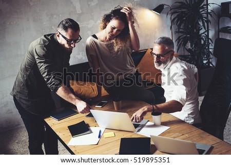Munca în echipă pornire proiect planificare Imagine de stoc © snowing
