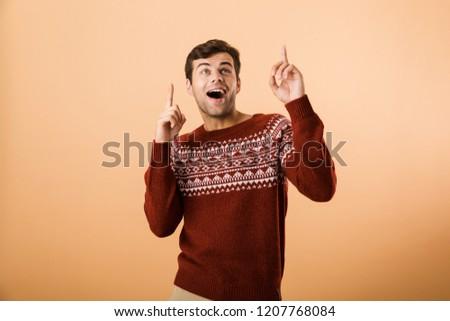 Obraz atrakcyjny człowiek 20s jeżyć Zdjęcia stock © deandrobot