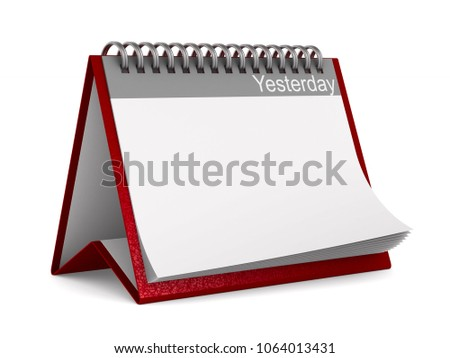 Kalender gisteren witte geïsoleerd 3D 3d illustration Stockfoto © ISerg