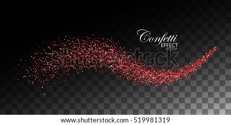 Red glitter sparkle on a transparent background. Vibrant background with twinkle lights. Vector illu Stock photo © olehsvetiukha