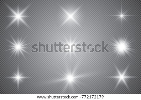 Blue glitter sparkle on a transparent background. Vibrant background with twinkle lights. Vector ill Stock photo © olehsvetiukha