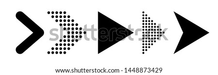 Arrow Up Right out of circle. Vector illustration style is flat iconic symbol inside a circle, black Stock photo © kyryloff