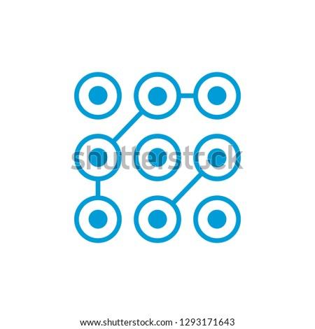 Minta zár hozzáférés kód ikon ui Stock fotó © kyryloff