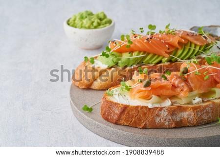 新鮮な · 鮭 · サンドイッチ · 食品 · 夏 - ストックフォト © denismart