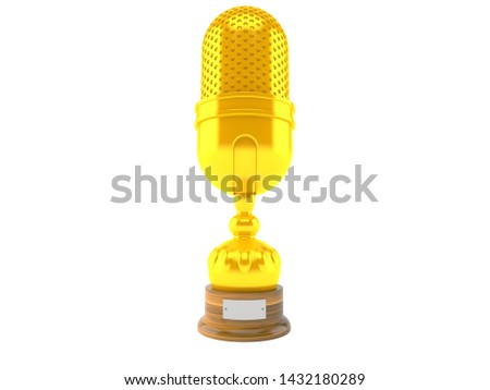 microphone and trophy cup on white background. Isolated 3D illus Stock photo © ISerg
