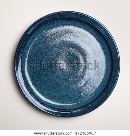Porcelán üres kézzel készített tányér szín év Stock fotó © artjazz