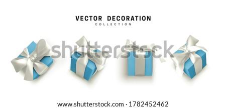 セット · ギフト · パッケージ · クリスマス · 贈り物 · パーティ - ストックフォト © olehsvetiukha