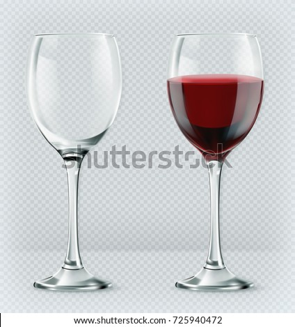 Transparent Glass Vector. Classic Goblet. Empty Clear Glass Cup. For Water, Drink, Wine, Alcohol, Ju Stock photo © pikepicture