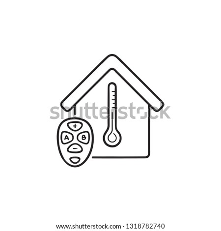 smart house temperature control hand drawn outline doodle icon stock photo © rastudio