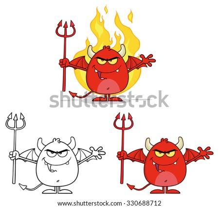 öfkeli kırmızı şeytan Alevler Stok fotoğraf © hittoon