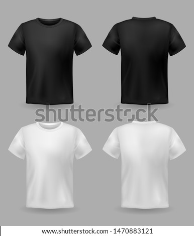 White and black woman T-shirts with short sleeves mock up, place for print Stock photo © MarySan