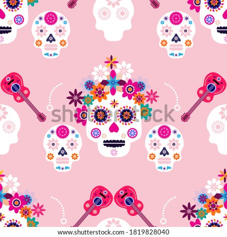 Hat Seamless Pattern Vector. Traditional Man, Woman Fashion Symbol. Cute Graphic Texture. Textile Ba Foto stock © pikepicture