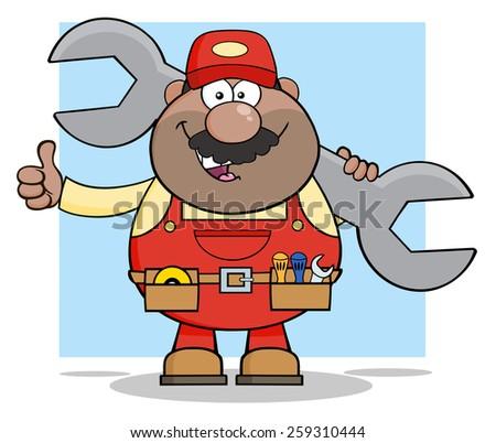 Mekanik dev İngiliz anahtarı Stok fotoğraf © hittoon