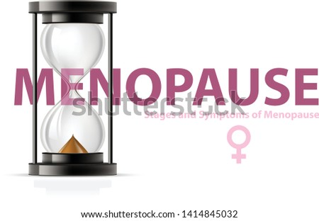 menopause concept hourglass   climax and fertility end of chil stock photo © winner