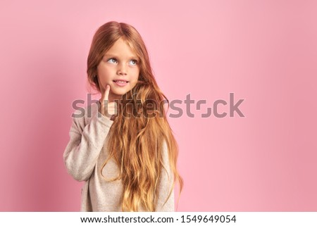 ストックフォト: 女の子 · 美しい · 長い · ブロンド · 髪 · 光