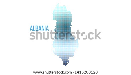 Schematic Albania map. Vector halftone territorial scheme. Gradient cartographic composition. Abstra Stock photo © kyryloff