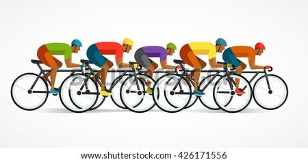 ストックフォト: サイクリスト · ライディング · 自転車 · ベクトル · インフォグラフィック · ポスター