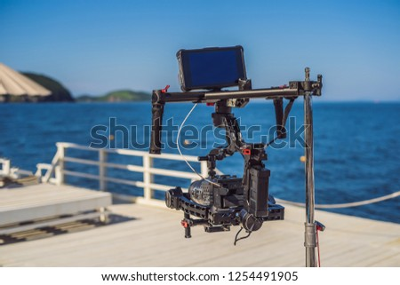 Cinema câmera comercial produção conjunto bandeira Foto stock © galitskaya