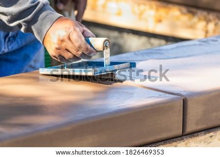 建設作業員 手 ぬれた セメント 警官 周りに ストックフォト © feverpitch