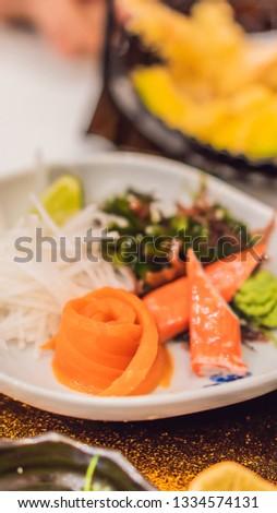 Japans ingesteld voedsel restaurant verticaal formaat Stockfoto © galitskaya