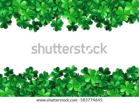 saint patricks day background with sprayed green clover leaves o stock photo © swillskill