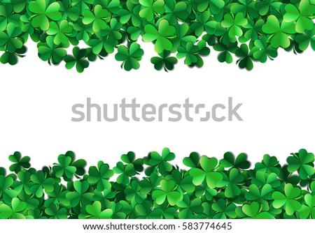 Saint jour vert trèfle laisse printemps Photo stock © SwillSkill