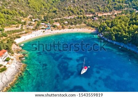 strand · oprit · zuiden · wales · water · landschap - stockfoto © xbrchx
