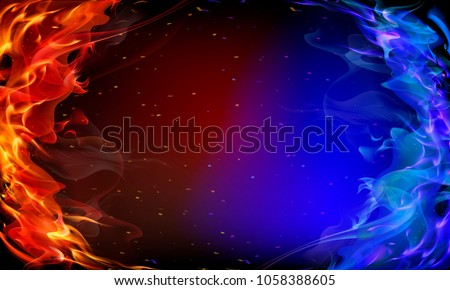 Orange abstract art background,  fire flame texture and wave lin stock photo © Anneleven