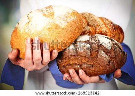 домашний рожь хлеб подсолнечника семян рук Сток-фото © galitskaya