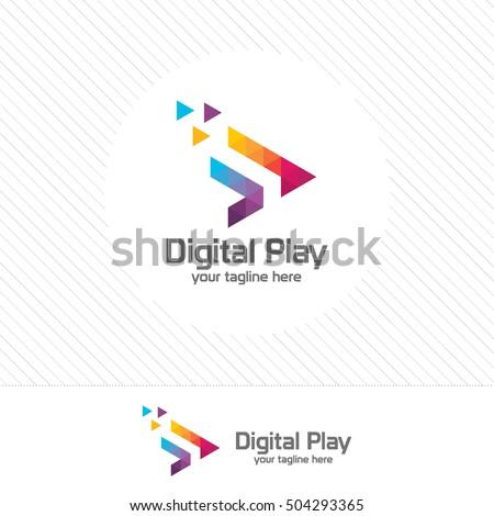 геометрический Пиксели треугольник дизайн логотипа бизнеса личности Сток-фото © kyryloff