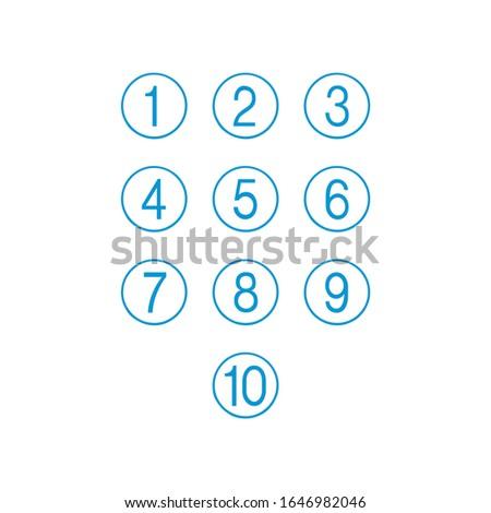 キーパッド 番号 セット 番号 サークル コード ストックフォト © kyryloff