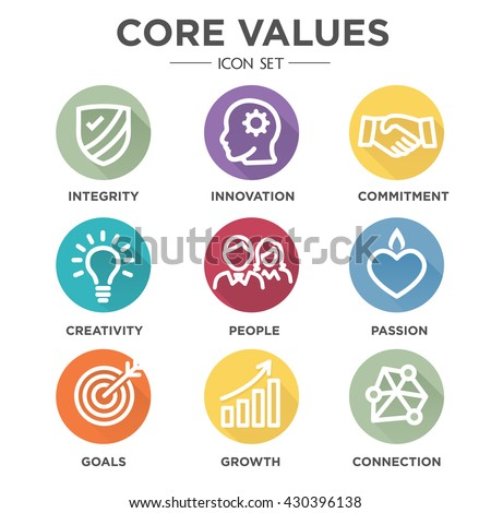 Company Core Values Statement. Innovation, Excellence And Interg Stock photo © olivier_le_moal