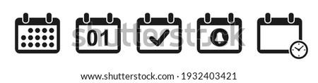 Calendário organizador ícone lembrete reunião símbolo Foto stock © kyryloff