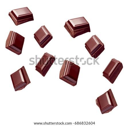 çikolata çubuklar parçalar siyah tatlı gıda Stok fotoğraf © marylooo