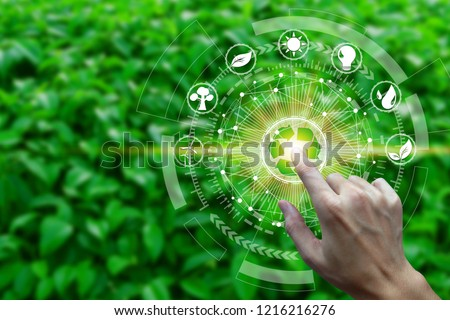 Sustainable organic agriculture abstract concept vector illustrations. Stock photo © RAStudio