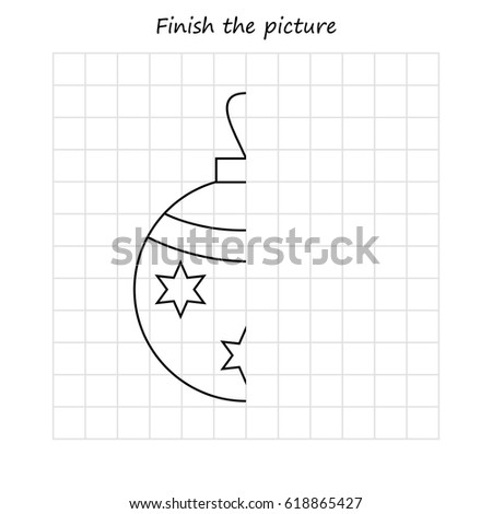 Copy the picture, education game for children - Christmas tree Stock photo © natali_brill